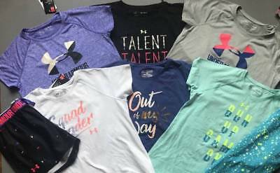 Girl's Size Xl (18/20) Under Armour Lot Of 6 Athletic Outfits Bts Nwt