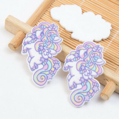 5pcs Unicorn flatback resin cabochon For Scrapbook Embellishment DIY Phone Decor