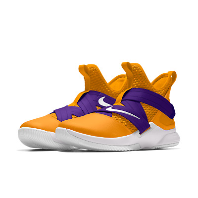 quality design 11495 1a0de NIKE ID LEBRON Soldier 12 XII Purple/Gold Lakers Basketball Custom All New