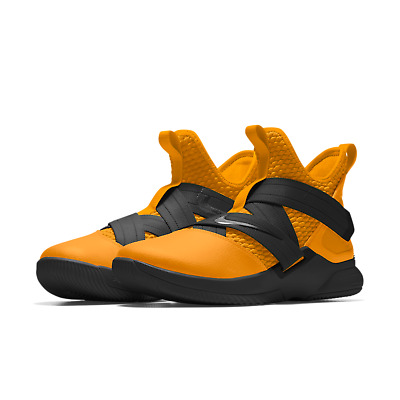 size 40 4cc4b 689a2 NIKE ID LEBRON Soldier 12 XII Black/Gold Bruce Lee Lakers Custom All New