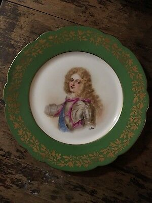 Antique Hand Painted SEVRES Cabinet plate - Signed Debrie - St-Cloud - Duc Bourg
