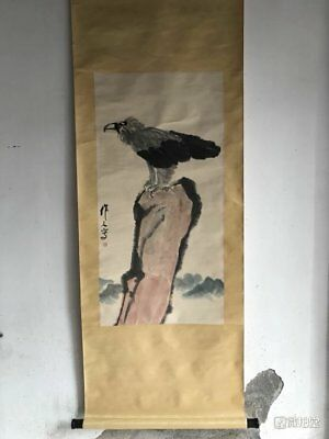 Excellent old Chinese Scroll Painting By Wu Zuoren 吴作人: eagle c152