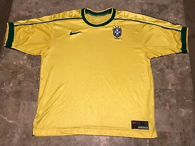 8bf0d4c91 RARE Vintage World Cup Brazil Football Soccer Nike Home Jersey Adult Size XL