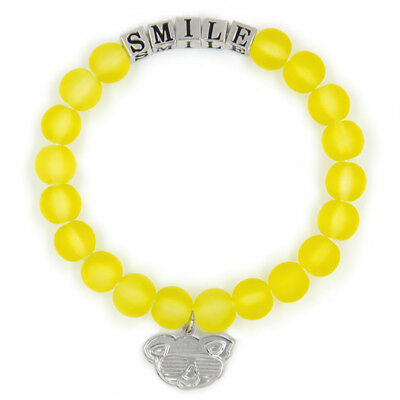 Yellow SMILE Friendship Bracelet Inspirational Meaningful Unique Gift Beaded