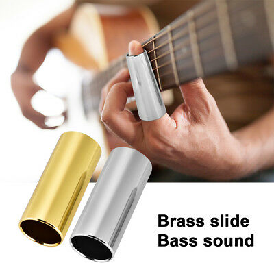 2 Pieces 6cm Solid Brass & Stainless Steel Slides for Guitar Stringed Instrument