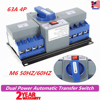 63A 4P Dual Power Automatic Transfer Switch CB Level M6 50HZ/60HZ Generator US
