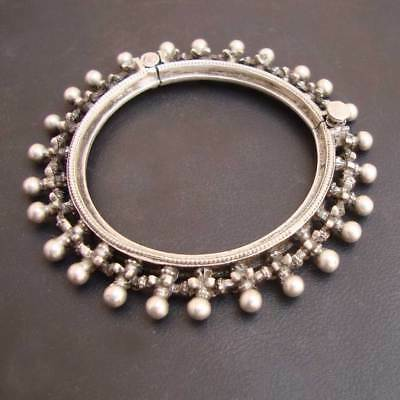 Antique Old Silver Vintage Look Women Ethnic Tribal Gypsy Bangle Bracelet