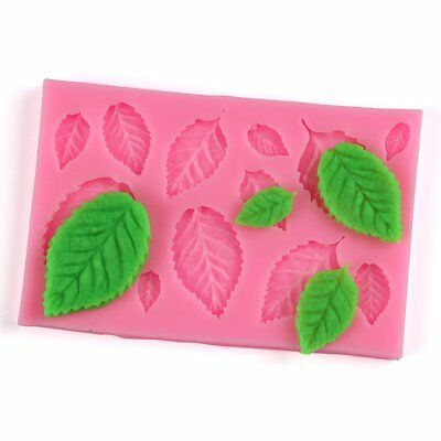 Tree Leaf Shape Fondant Cake Silicone Mold DIY Kitchen Candy Biscuits Mold AZ