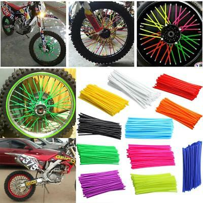 couvre rayon dirt bike pit mini moto 50 roue jante spoke covers skins velo trial eur 16 99. Black Bedroom Furniture Sets. Home Design Ideas