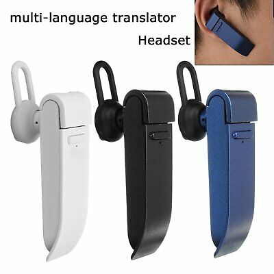Smart Real Time 16-Language Voice Translator Headset for Learning Travel Meeting