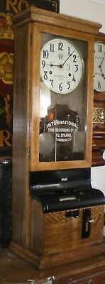 International antique clocking in clock approximately 1900