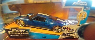 Jada  Scale Ford Gt Blue Fast And Furious Cast Model