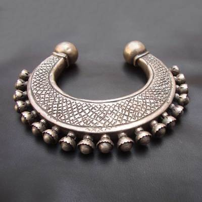 Antique Old Silver Vintage Look Rare Handmade Ethnic Tribal Gypsy Bangle
