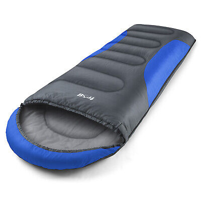 Adult Envelope Sleeping Bag With Hood One Person Lightweight 3 Season Trail 250