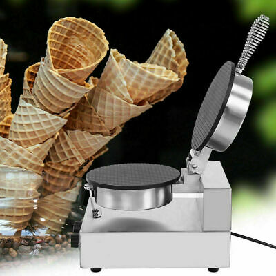 Electric Stainless Steel Ice Cream Egg Waffle Cone Maker Baking Baker Machine SG