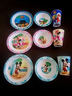 Disney Baby feeding sets Mini Mouse Mickey Mouse and Go Jetters Plate Bowl Cup