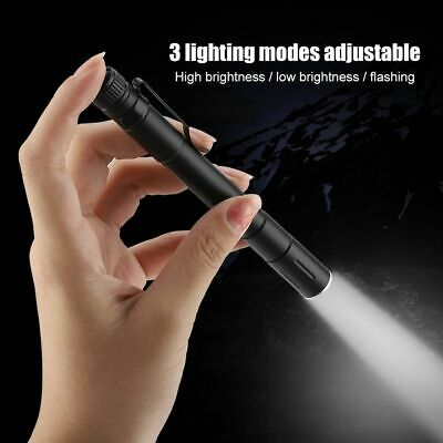 3500 LM LED Flashlight Pocket Clip Mini Tactical Camp Torch Pen Light AAA Lamp