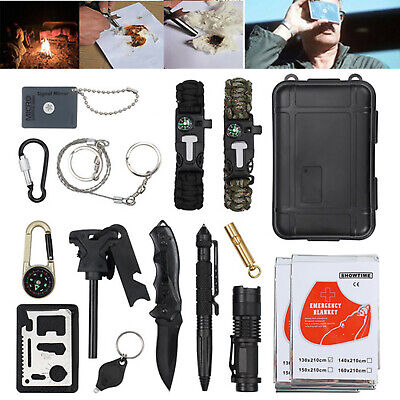 18X Outdoor Sports Emergency Survival Equipment Tactical Hiking Camping Tool Set