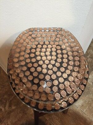 Peachy Standard Round Pennies Penny Coins Resin Toilet Seat Andrewgaddart Wooden Chair Designs For Living Room Andrewgaddartcom