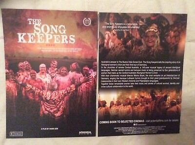 Promotional Movie Flyer The Song Keepers *NOT A DVD*