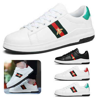 Mens Womens Small Bee Embroidery Flat Sports Shoes Sneakers gym Running Trainer