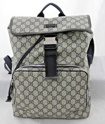 149fcd58036 GUCCI GG SUPREME Backpack with web 100% authentic -  1