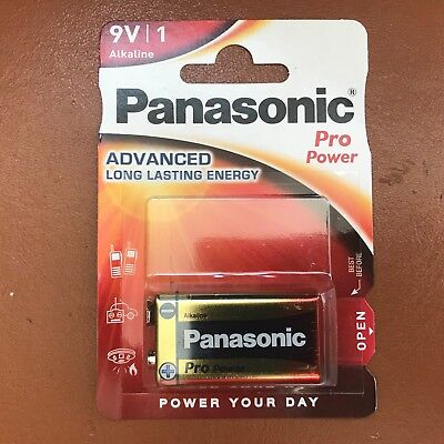 NEW Panasonic 9V PP3 Pro Power Alkaline Batteries Smoke Alarms LR22 MX1604