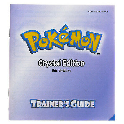 Game Boy Color Anleitung Pokémon Crystal Trainer´s Edition Sehr Guter Zustand!