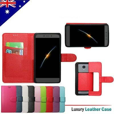 For Konka R8A PU Wallet Leather Flip PU Card Holder Universal Case Cover