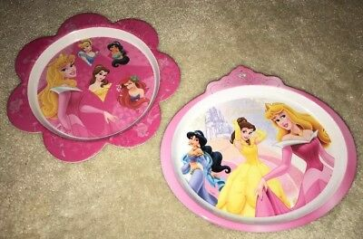 Zak! Designs Disney Princess Childu0027s Melamine Plates Lunch Dinner Snack & ZAK! DESIGNS DISNEY Princess Childu0027s Melamine Plates Lunch Dinner ...