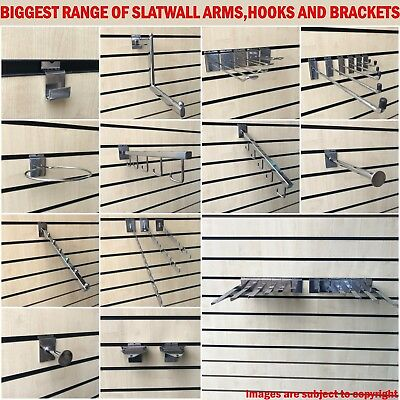 Slat Wall Slatwall Fittings Prongs Arms Hooks Retail Display Shop Fittings
