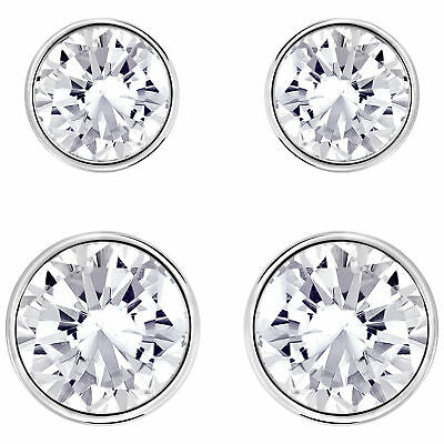 41a60a95a98e9 SWAROVSKI CRYSTAL HARLEY Jet Hematite Pierced Earrings Set 992847 ...