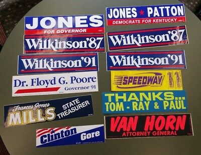 Rare political bumper stickers kentucky governor local races vintage lexington