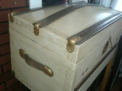 Antique steamer trunk Completely Redone Inside & Out
