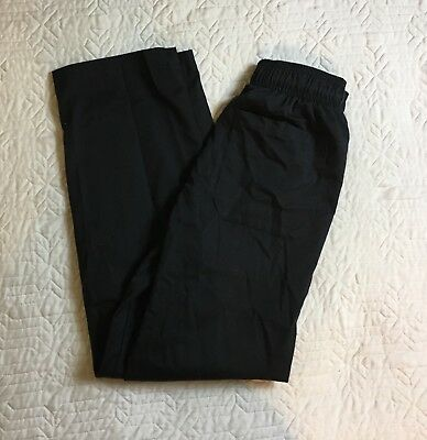Chef Works Pants Black Stretch Waist Women Size XS Polyester Cotton Blend