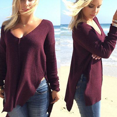 New Womens Long Sleeve Pullover Sweater Shirt Ladies Loose Blouse