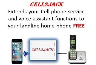Cell2Jack - Make and Receive Cell phone call on your landline home phone FREE!