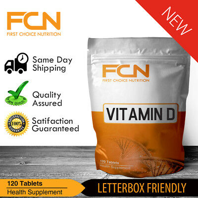 VITAMIN D3 / 120 Tablets /  5000IU HIGH STRENGTH / LOWEST PRICE GUARANTEED
