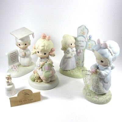 Precious Moments Lot of 5 Figurines 524425 9262 260916 272957 522554