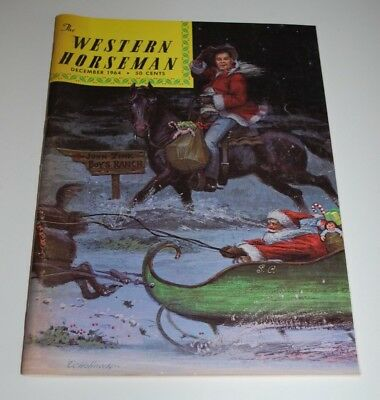 December 1964 WESTERN HORSEMAN Magazine— Artist Echohawk Playing Santa Cover