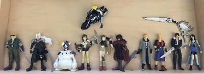 Final Fantasy 7 & 8 11 Assorted Figures with weapons