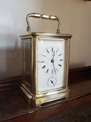 A fine quality alarm carriage clock by Edouard Serin 1870. Just serviced GWO