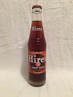 FULL 10oz HIRES ROOT BEER ACL SODA BOTTLE SINCE 1876