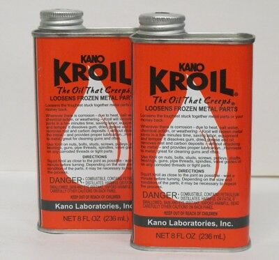 Kano Laboratories Kroil Penetrating Oil (LOT of 2 8oz Cans)