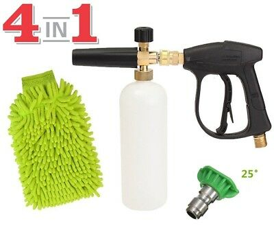 "SPAuto High Pressure Washer Gun Jet 1/4"" Snow Foam Lance Cannon Car Cleaning"