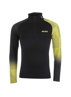 Nevica Mens Vail Baselayer Thermal Ski Top Long Sleeve Black Green Large