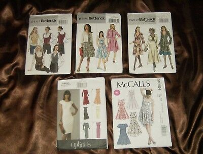 Group A   Lot of 5 Assorted VTG Misses' size (6-12) Patterns Brand New/Uncut