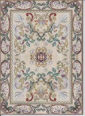 1:12 or 1:24 Scale Dollhouse Area Rug 0001345 - approximately 4-1/4 x 5-5/8""
