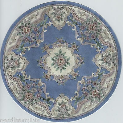 "1:12 Scale Dollhouse Area Rug Round 8"" - 0000767"