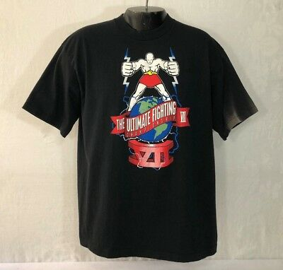 VTG Original 90's UFC Ultimate Championship VII XL T Shirt Flaws shamrock RARE!